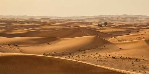 desert as a source of atmospheric dust