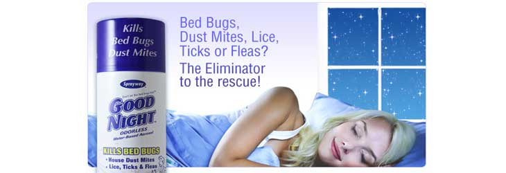 Sprayway good-night dust mite and bed bug spray