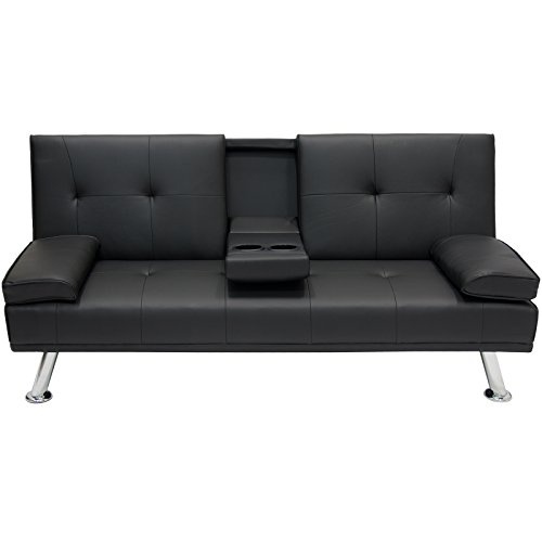 Exceptionnel Best Choice Products Modern Entertainment Futon Sofa Bed Fold Up U0026 Down  Recliner Couch With Cup Holders Furniture